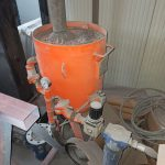 cabina di sabbiatura
